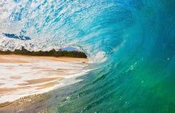 Oceaan Golf bij Strand stock afbeeldingen