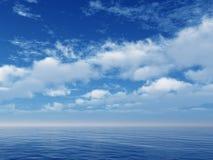 Oceaan hemel vector illustratie