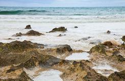 Oceaan kustachtergrond Stock Foto's