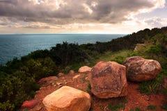 Oceaan landschap Royalty-vrije Stock Foto