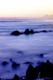 Oceaan mening bij zonsondergang. royalty-vrije stock foto's