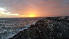 Oceaan mooie Zonsondergang Royalty-vrije Stock Fotografie