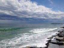 Oceaan na het Onweer Royalty-vrije Stock Foto's