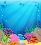 Oceaan onderwaterthemaachtergrond 4 Stock Foto's