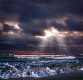 Oceaan onweer Stock Foto