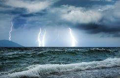 Oceaan onweer Stock Afbeeldingen