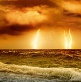 Oceaan onweer Royalty-vrije Stock Fotografie