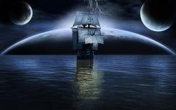 Oceaan op vreemde planeet Stock Afbeelding