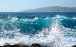 Oceaan plons royalty-vrije stock fotografie