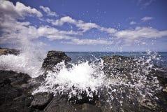 Oceaan plons Stock Foto