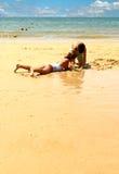 Oceaan strand Royalty-vrije Stock Afbeeldingen
