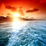 Oceaan sunrice Royalty-vrije Stock Afbeeldingen