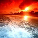 Oceaan sunrice Stock Afbeelding