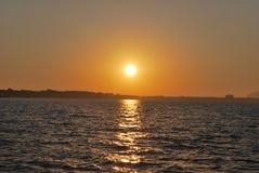 Oceaan Sunset Royalty-vrije Stock Foto