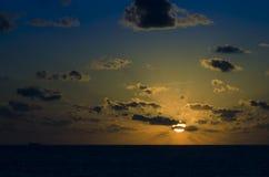 Oceaan Sunset Royalty-vrije Stock Fotografie