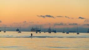 Oceaan in susnet Royalty-vrije Stock Fotografie