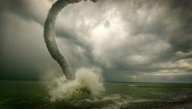 Oceaan tornado Stock Foto's