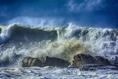 Oceaan vóór onweer Stock Foto