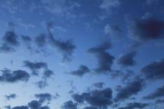 Oceaan van wolken stock foto