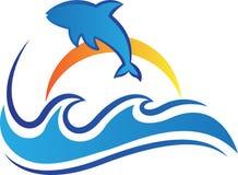 oceaan vector het pictogramontwerp van het golvensymbool royalty-vrije illustratie