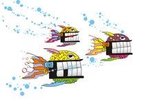 Oceaan vissen stock illustratie