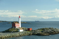 Oceaan Vuurtoren Victoria Canada Royalty-vrije Stock Foto's