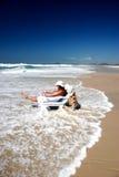 Oceaan wegspoeling Royalty-vrije Stock Fotografie
