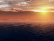 Oceaan zonsondergang Vector Illustratie