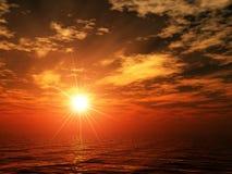 Oceaan zonsondergang Stock Afbeeldingen