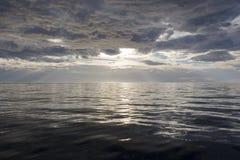 Oceaan zonsondergang royalty-vrije stock afbeelding