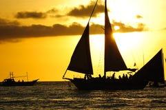 Oceaan zonsondergang Stock Afbeelding