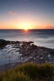 Oceaan zonsopgang bij wollongong Royalty-vrije Stock Foto