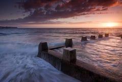 Oceaanbad Silhoutte - Coogee Royalty-vrije Stock Afbeelding