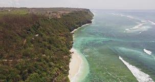 Oceaancliff aerial 4k stock video