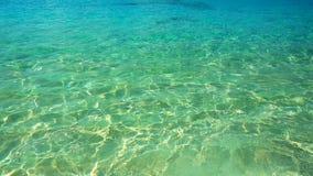 Oceaangolf, Textuur op water, aquaachtergrond Royalty-vrije Stock Afbeeldingen