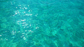 Oceaangolf, Textuur op water, aquaachtergrond Stock Afbeelding