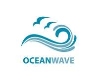 Oceaangolfembleem stock illustratie