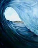 Oceaangolfolieverfschilderij Royalty-vrije Stock Fotografie
