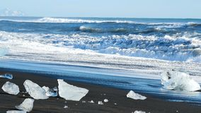Oceaanijs blauwe gletsjer stock videobeelden