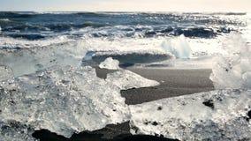 Oceaanijs blauwe gletsjer stock footage