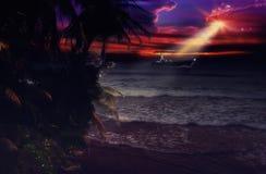Oceaaninvasie Stock Afbeelding