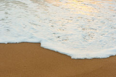 Oceaankust en schuim Royalty-vrije Stock Afbeelding