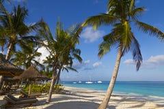 Oceaankust van het eiland van Zanzibar Dorp Kendwa tanzania afrika stock afbeeldingen