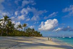 Oceaankust van het eiland van Zanzibar Dorp Kendwa tanzania afrika stock foto's
