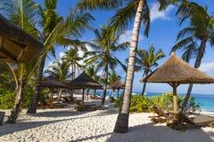 Oceaankust van het eiland van Zanzibar Dorp Kendwa tanzania afrika stock afbeelding