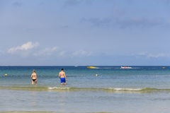Oceaankustlijn stock foto