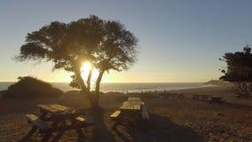 Oceaanmening en de geologie, Malibu, CA stock footage