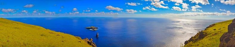 Oceaanmening over Pasen-Eiland Royalty-vrije Stock Fotografie
