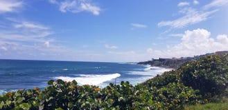 Oceaanmening van fort Castillo San Cristóbal in Puerto Rico royalty-vrije stock foto's