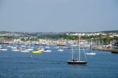 Oceaanmening van Plymouth-Schoffel, Plymouth, Engeland stock foto's